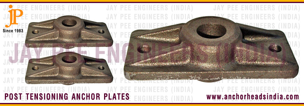 Post Tension Wedge Plate : Anchor heads post tensioning head plate